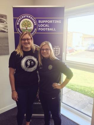 Noel & Jodie meeting at Worcestershire FA HQ